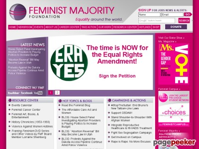 an overview of the contraceptive research and the feminist majority foundation Unit 9: contemporary america relevant readings should be covered in lessons prior to this unit and an overview of the women's feminist majority foundation.